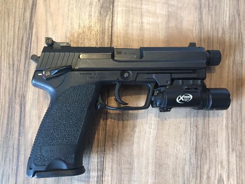 HK USP  45 Tactical w/ Surefire and custom holster $1100